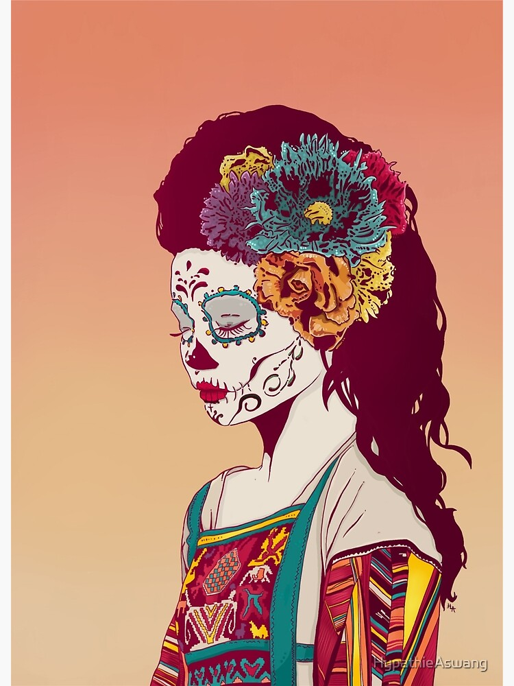 Mexican Skull Lady by HypathieAswang