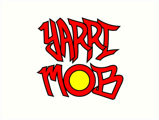 Yarri Mob Graffiti Aboriginal Flag 2 Art Prints By Wigilwigil