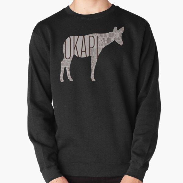 Word Cloud Wildlife: Johnstoni (Okapi) Pullover Sweatshirt