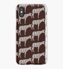 Word Cloud Wildlife: Johnstoni (Okapi) iPhone Case/Skin