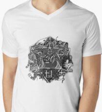 Camiseta para hombre de cuello en v Monstruos DnD