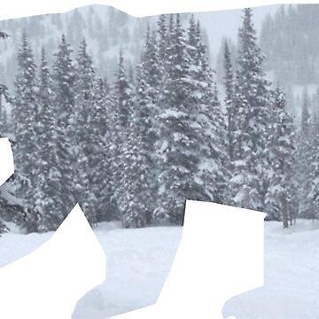 Polar Bear : silhouette by chuzzelpuff
