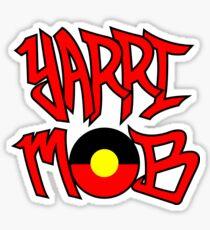 Yarri Mob Graffiti - Aboriginal Flag 4 Sticker