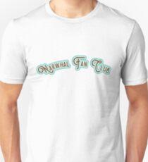Narwhal Fan Club - Chocolate Brown & Aqua Version T-Shirt
