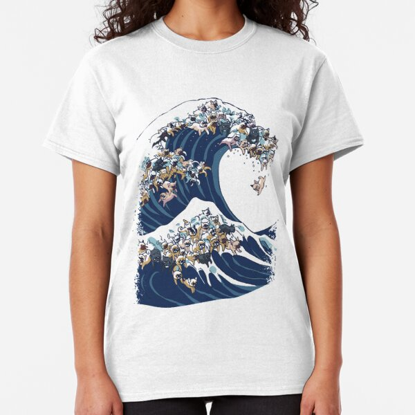 The Great Wave of French Bulldog Classic T-Shirt