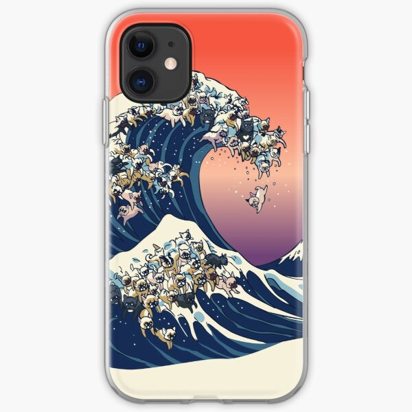 The Great Wave of French Bulldog iPhone Soft Case