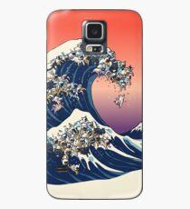 Funda/vinilo para Samsung Galaxy La gran ola de Bulldog Francés
