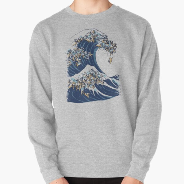 The Great Wave of Pug Pullover Sweatshirt