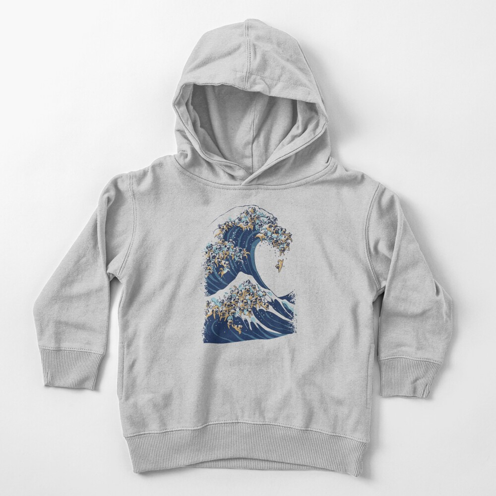 The Great Wave of Pug Toddler Pullover Hoodie