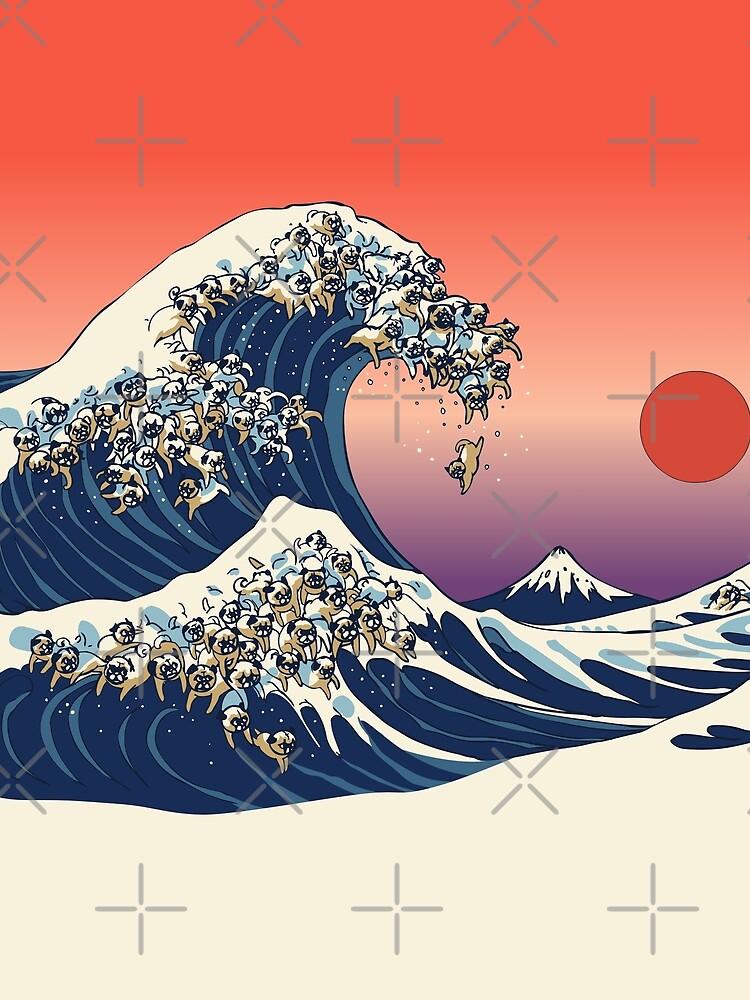Die große Welle des Mops von Huebucket