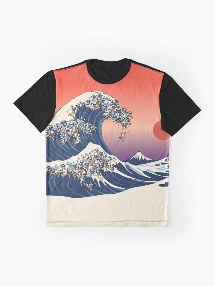 Alternative Ansicht von Die große Welle des Mops Grafik T-Shirt