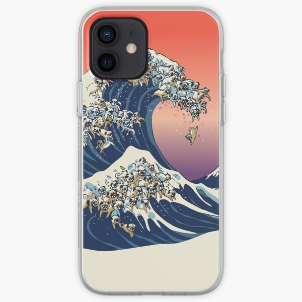 The Great Wave of Pug iPhone Soft Case