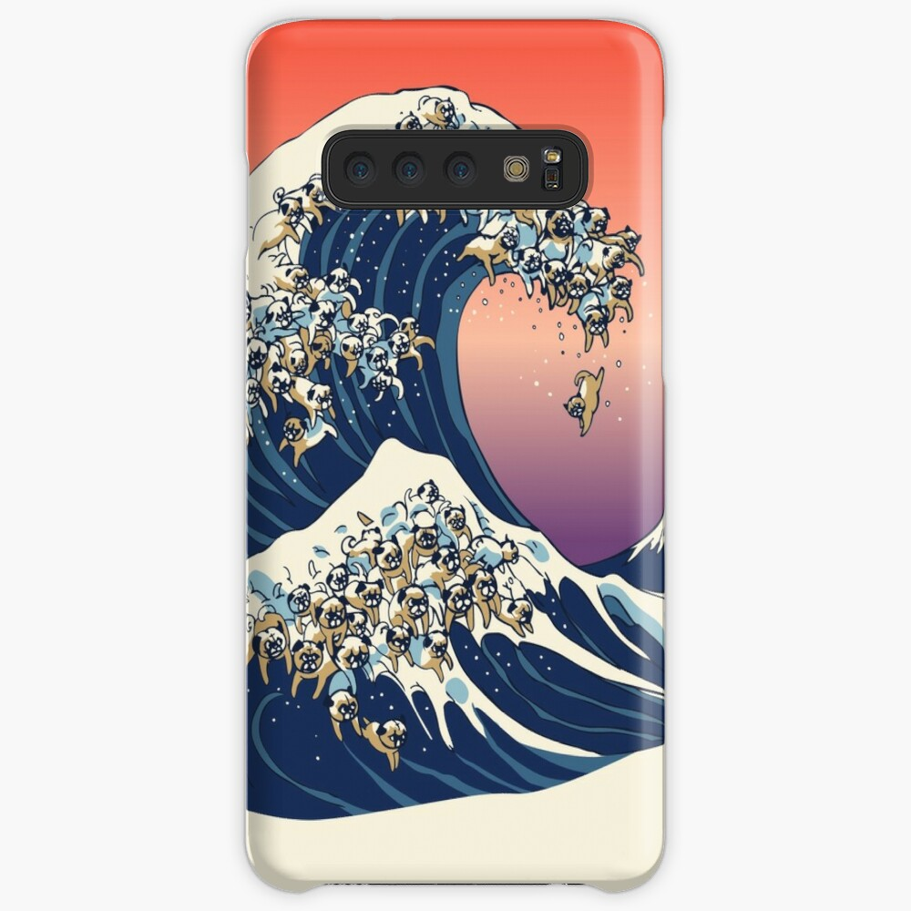 The Great Wave of Pug Case & Skin for Samsung Galaxy