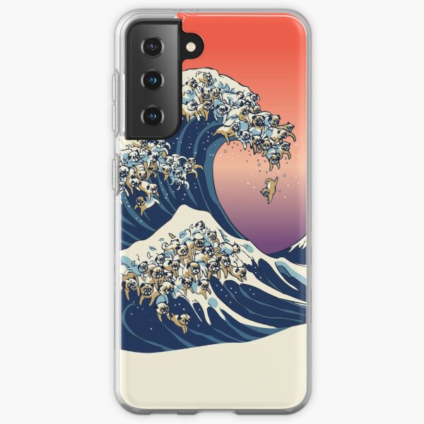 The Great Wave of Pug Samsung Galaxy Soft Case