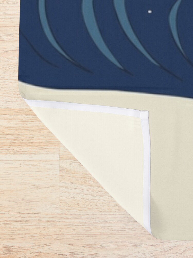 Alternate view of The Great Wave of Pug Shower Curtain