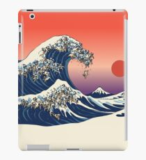 The Great Wave of Pug iPad Case/Skin