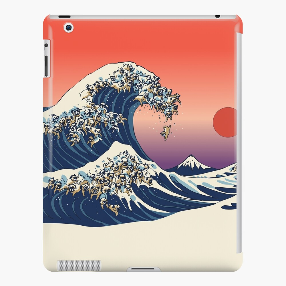 The Great Wave of Pug iPad Case & Skin