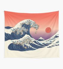 The Great Wave of Pug Tapestry