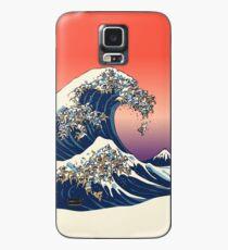 Funda/vinilo para Samsung Galaxy La gran ola de Bulldog Inglés