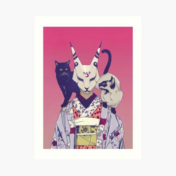 Neko Lady Art Print