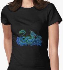 Chinese Azure Dragon Women's Fitted T-Shirt