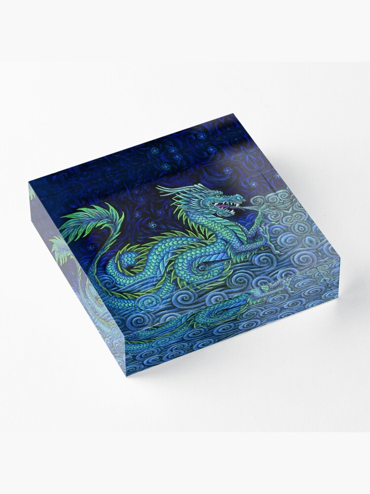 Alternate view of Chinese Azure Dragon Acrylic Block