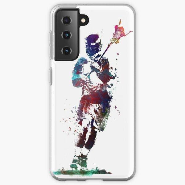Lacrosse player art 2 #sport #lacrosse Samsung Galaxy Soft Case