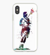 Lacrosse player art 2 #sport #lacrosse iPhone Case