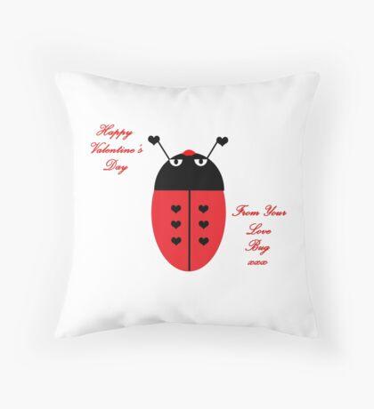 Love Bug (Valentine's Day) Throw Pillow