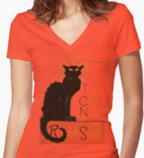 Tournee Du Chat Noir - After Steinlein Women's Fitted V-Neck T-Shirt