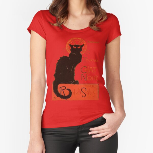 Tournee Du Chat Noir - After Steinlein Fitted Scoop T-Shirt