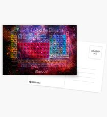 Stardust-Periodensystem Postkarten