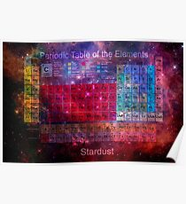 Stardust Periodic Table Poster