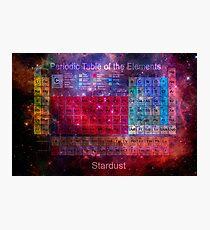 Stardust Periodic Table Photographic Print
