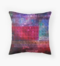 Stardust Periodic Table Throw Pillow