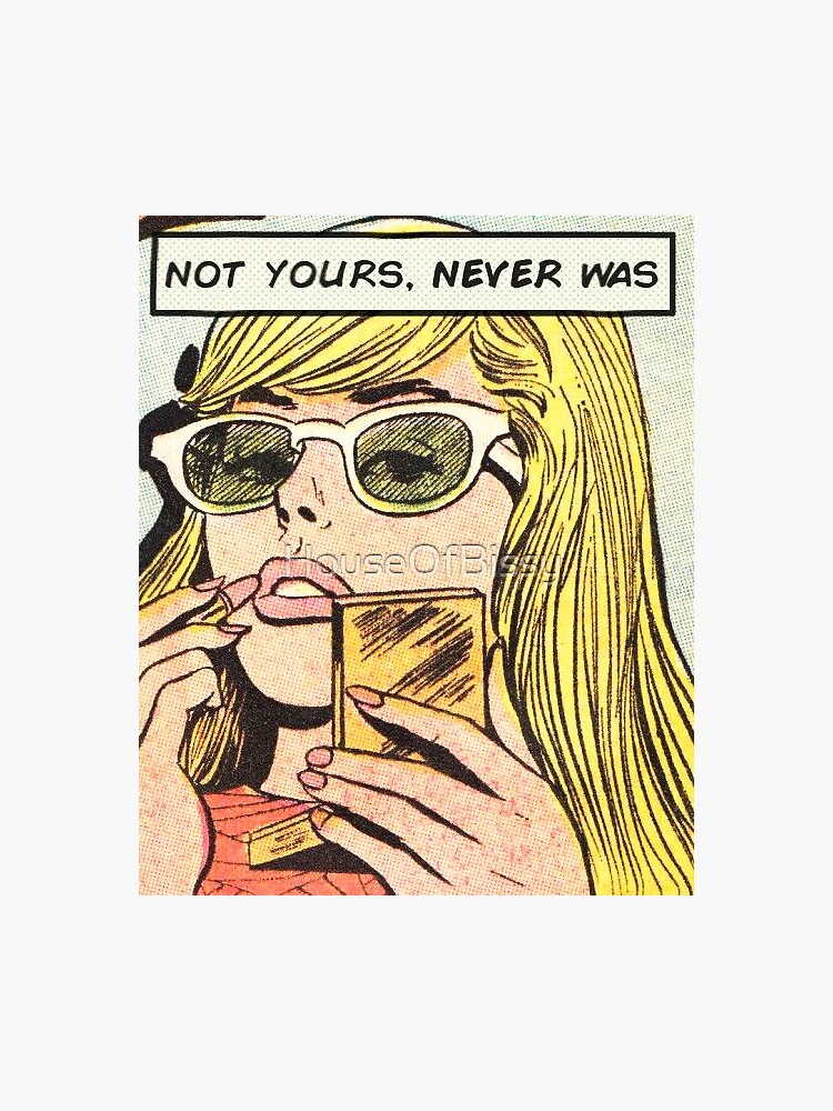 Blonde hair pin up girl kawaii pin up girl with lipstick  - not yours, never was by HouseOfBissy