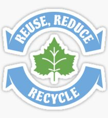 Reuse Reduce Recycle Official Earth Day Save The Planet Mother Nature 2018 Sticker