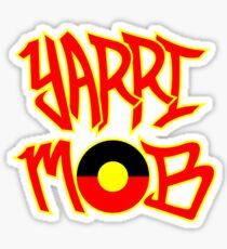Yarri Mob Graffiti - Aboriginal Flag 5 Sticker