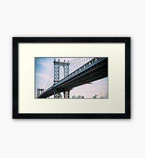 Lámina enmarcada Puente de Manhattan