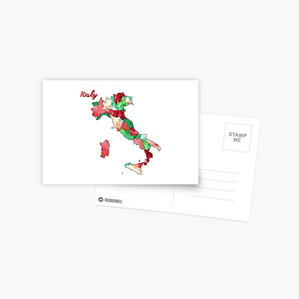 Watercolor Countries - Italy Postcard