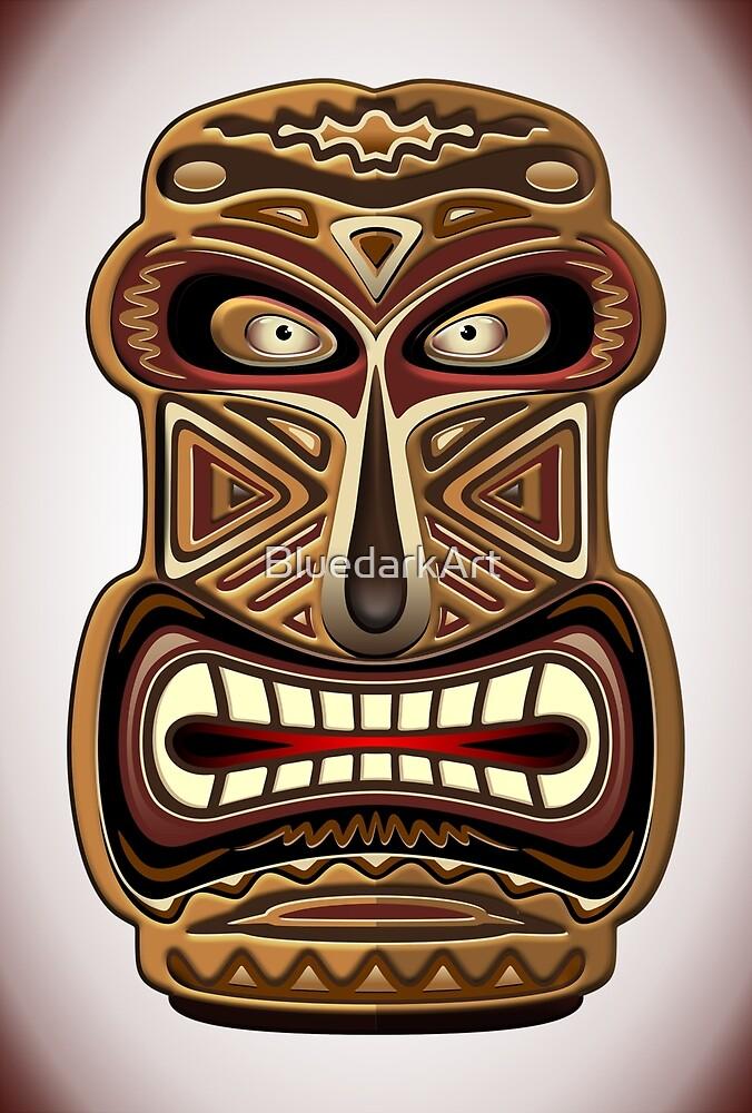 Africa Ethnic Mask Totem by BluedarkArt