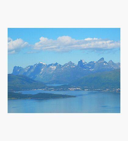 Tromso Mountains, Norway Photographic Print