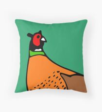 Pheasant Illustration Throw Pillow