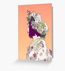 Geisha Under the Sun Greeting Card