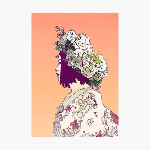 Geisha Under the Sun Photographic Print