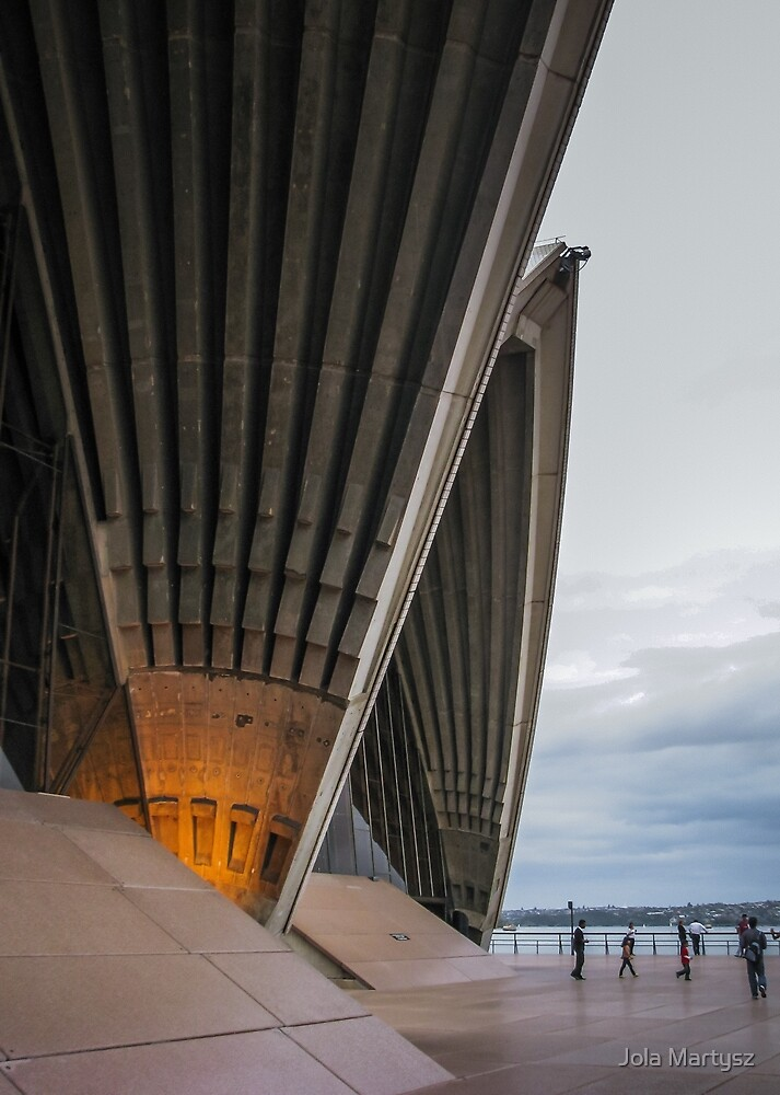 Entrance to Opera House in Sydney by Jola Martysz
