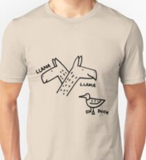 Llama Llama Duck - Light T-Shirts Slim Fit T-Shirt