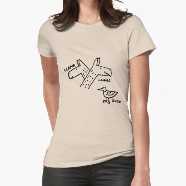 Llama Llama Duck - Light T-Shirts Fitted T-Shirt