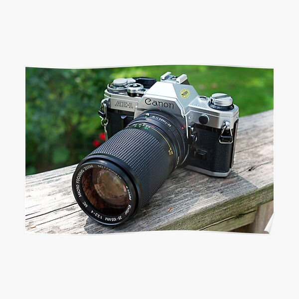 Canon AE-1 & Vivitar Telephoto Lens Poster