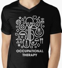 Occupational Therapy Octopus Men's V-Neck T-Shirt